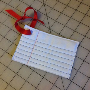 Fabric Notebook Paper Tag | ReannaLily Designs | Small Sewn Gifts
