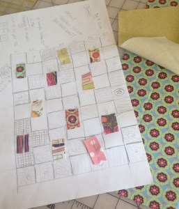 Plus Quilt Planning Diagram