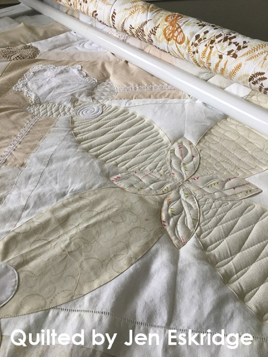Antique Linens Challenge Quilt by Jen Eskridge | ReannaLily Designs
