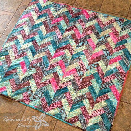 Batik Braid Quilt Tutorial by Jen Eskridge | ReannaLily Designs
