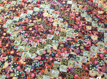 Blue Scrappy Quilt Along Quilt