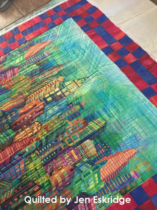 Longarm Machine Quilting Design by Jen Eskridge | ReannaLily Quilts