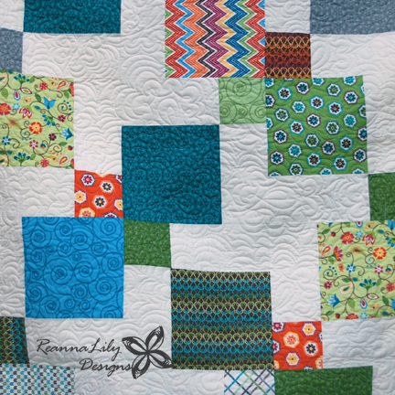 Disappearing 9-Patch Quilt | Longarm Quilting | Jen Eskridge | ReannaLily Designs