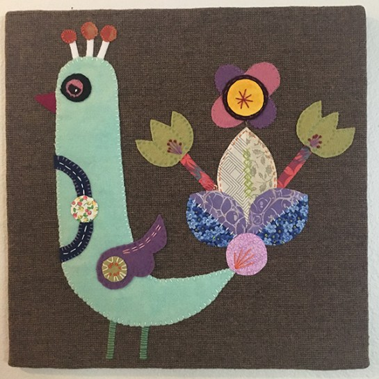 Ellen Giggenbach Inspired Peacock - Jen Eskridge - Artwork from etsy inspiring wool applique