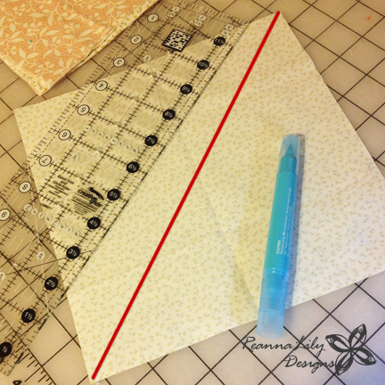 Giant Flying Geese from Fat Quarters | Jen Eskridge | ReannaLily Designs | No Waste Flying Geese Method