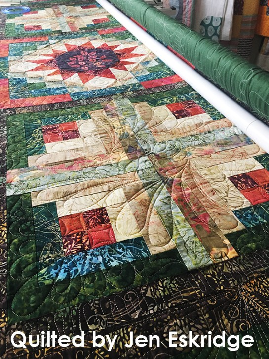 Longarm Quilting | Jen Eskridge | ReannaLily Designs | ReannaLily Quilts | Forest Floor Quilt Pattern