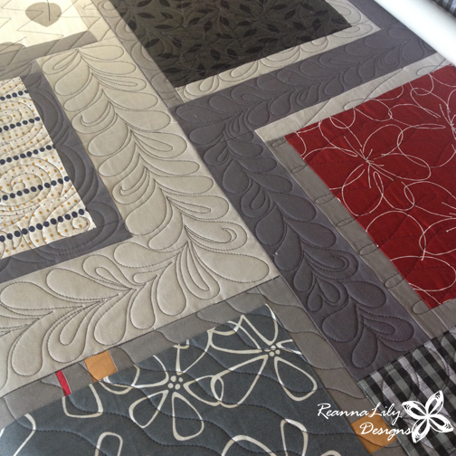 Geometric Longarm Quilting by Jen Eskridge | ReannaLilyQuilts | Customer Quilt