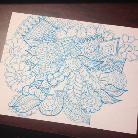 Graffiti Quilting Style Doodle   ReannaLily Designs