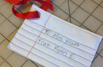 Small Sewn Gift Paper Gift Tag