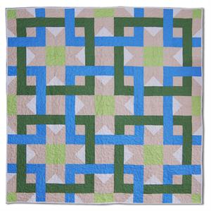 Interlocking Square Quilt Pattern