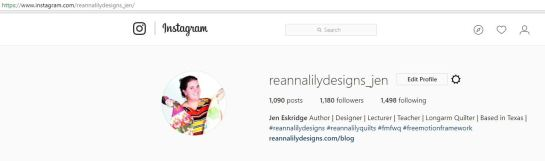 ReannaLily Designs Profile Pic on Instagram - Jen Eskridge