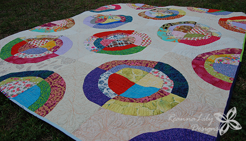 Scrappy Circles Quilt – Finished