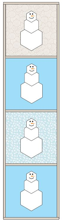 Hexagon Snowman | ReannaLily Designs | Hexagons Made Easy