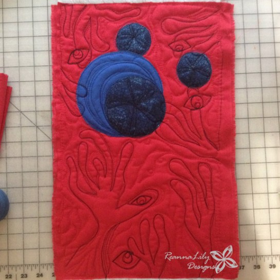 San Antonio Modern Quilt Guild President's Challenge | Art inspired quilts | The Cure Wish | Jen Eskridge | ReannaLily Designs