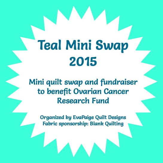 Mug Rug Fundraiser | Ovarian Cancer Awareness | Two for Teal