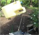 Larger plastic containers such as those used for oil also have many uses like this tippy tap.
