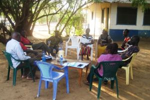 Photo of Focus group discussion with some of the staff at the PRDA compound in Lokichoggio