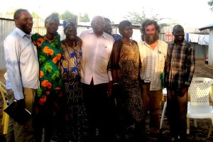 Photo of Roger with some of the PRDA staff and Midwifery graduates in Kakuma camp