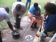Making black stones at Natural Medicines Training Seminar