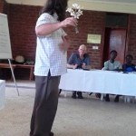 Roger teaching on the use of Frangi Pani for Shingles