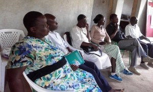 Photo of participants listening to the teaching