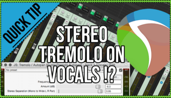 Vocal doubling trick with ReaTune |