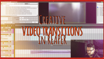 Audio visualizer and glitch fx for video in REAPER !! | The