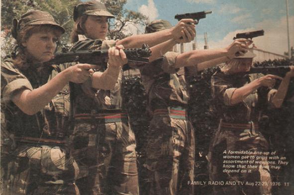 Women soldiers training