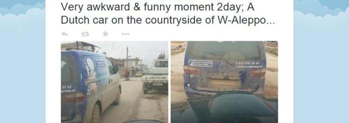 Dutch van in Syria