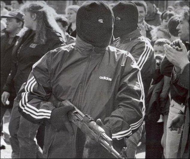 Adidas tracksuit IRA militant
