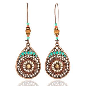 Boho Style Hollow Women's Drop Earrings