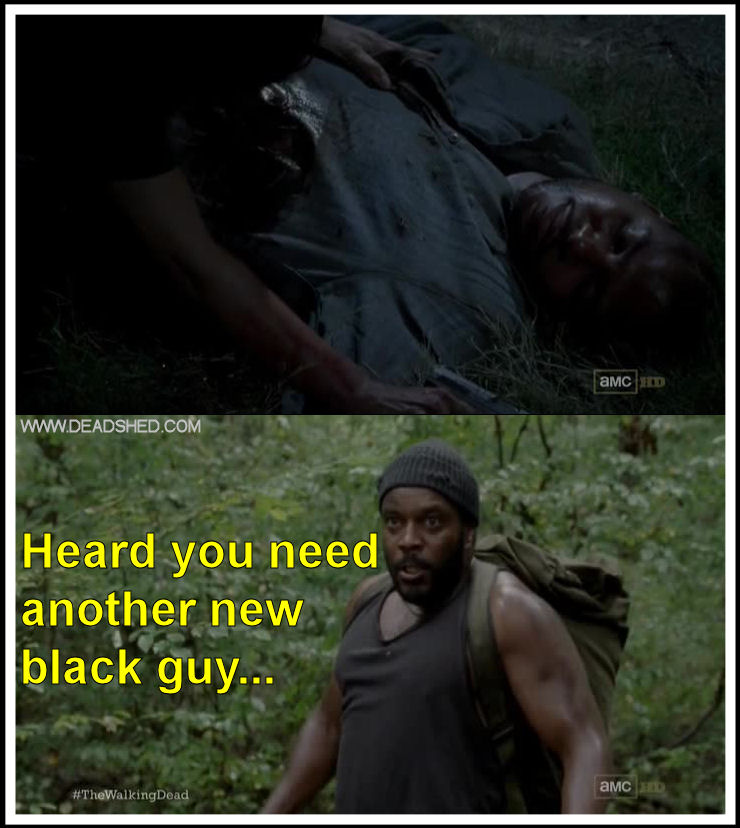 There wasn't enough room for both Oscar and Tyreese in the same show.