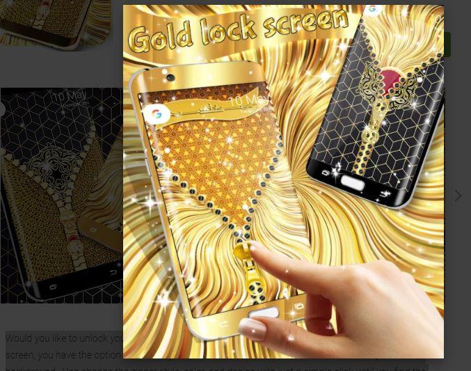 Gold Lock Screen