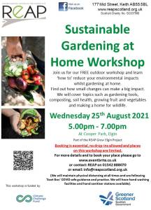 REAP's Sustainable Gardening at Home Workshop @ REAP Kiosk, Cooper Park