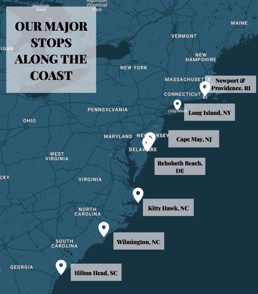east coast stops