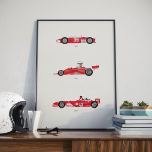 Ferrari Print White Helmet Lifestyle 1 – Rear View Prints