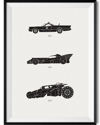 Batman Car Print - Rear View Prints