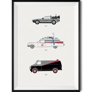 80s Movie Car Print WBoarder Frame 1 – Rear View Prints