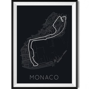 Monaco Car Print WBoarder Frame 2 – Rear View Prints