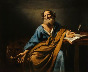 Saint Mark, The Evangelist by Valentin de Boulogne (1594-1632)