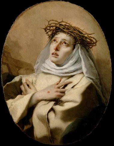 Saint Catherine of Siena by Giovanni Battista Tiopolo