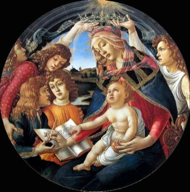Madonna of the Magnificat, 1481 by Sandro Botticelli