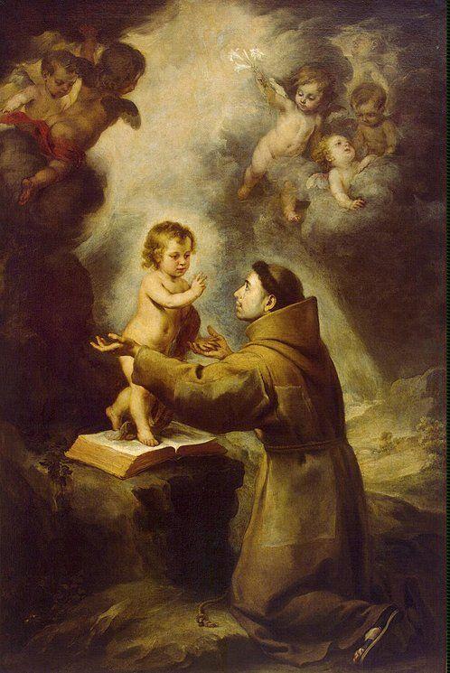 Vision-of-St-Antony-of-Padua-Bartolome Esteban Murillo