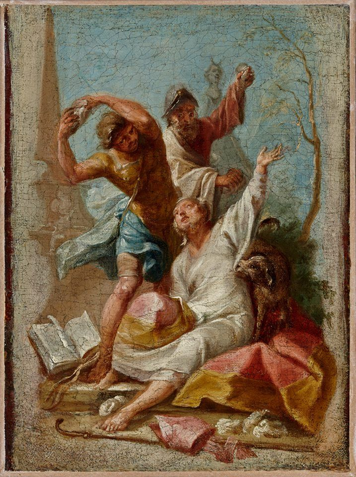 Stoning of Saint Timothy, Bishop of Ephesus (Johann Wolfgang Baumgartner)
