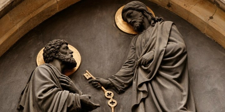 Jesus-Gives-Peter-Keys-unknown-artist-public-domain