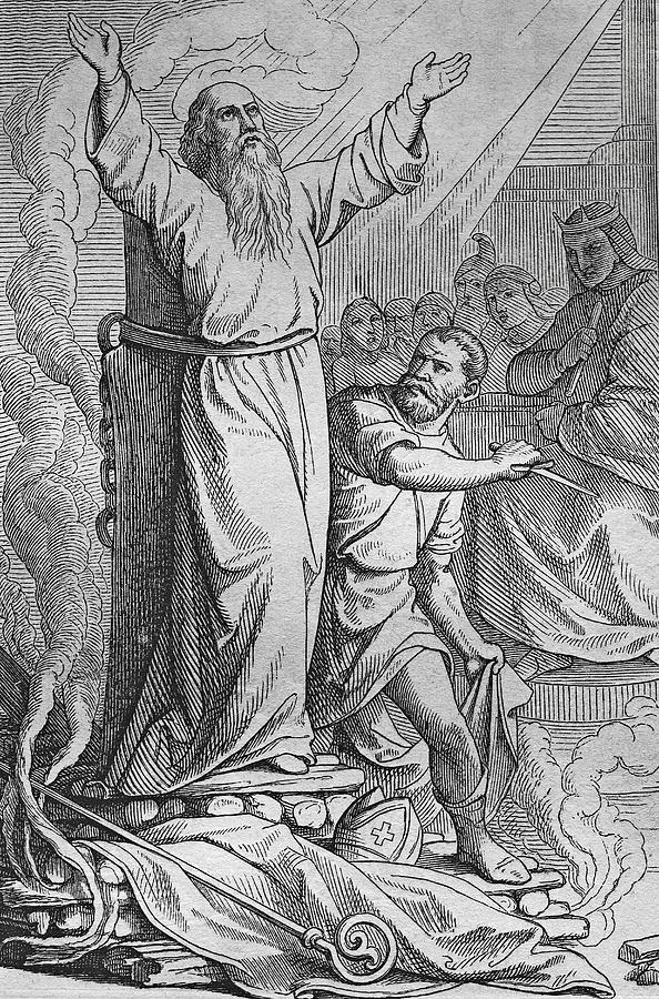 Martyrdom of St. Polycarp by Heinz Tschanz-Hofmann