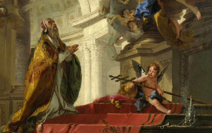 Pope Saint Clement Adoring the Trinity - Giovanni Battista Tiepolo