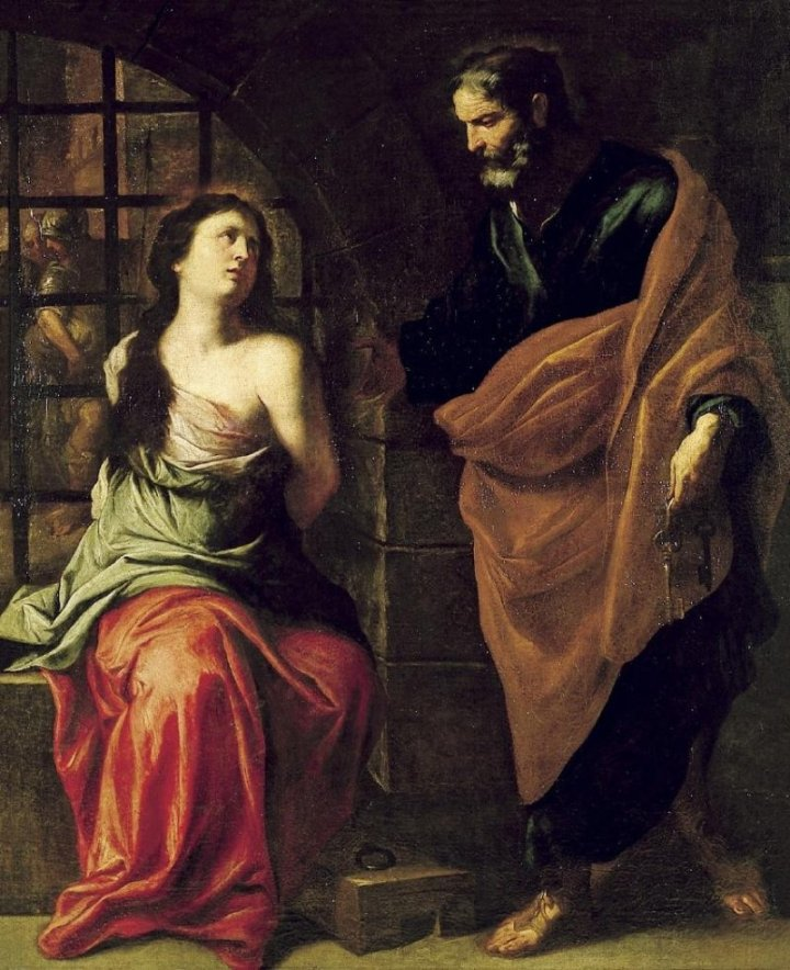 Saint-Peter-and-Saint-Agatha-Pietro-Novelli-Oil-Painting