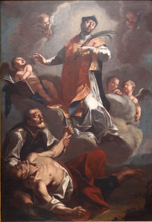 The Triumph of Saint Valentine painted by Valentin Metzinger, circa 18th century