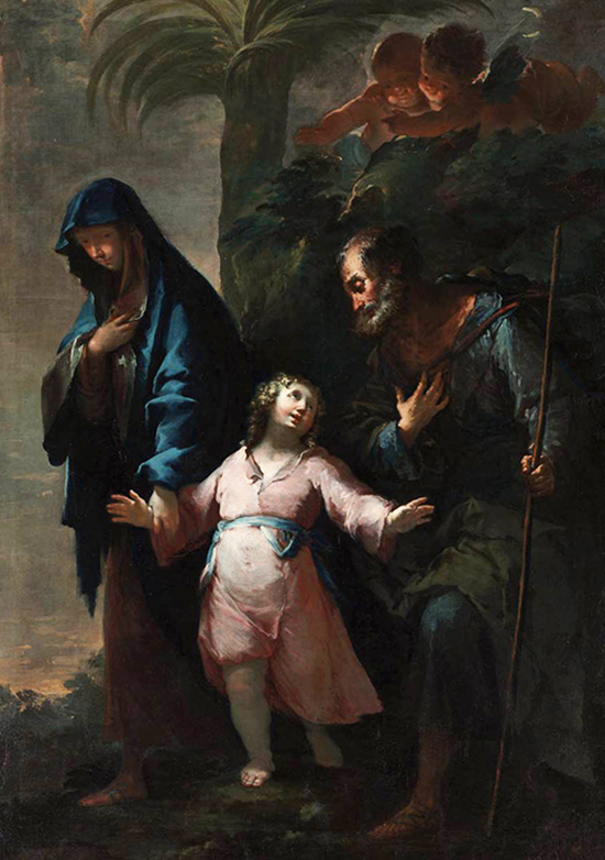 Return to Nazareth from Egypt by Francesco Conti, c.1733